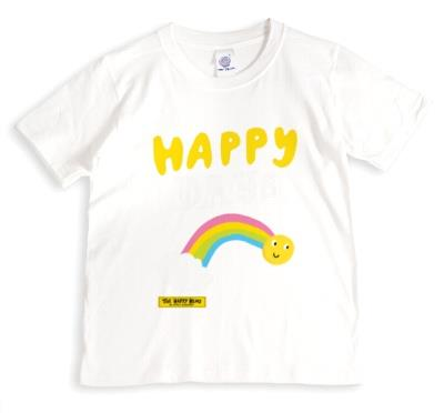 The Happy News Happy Days Rainbow Grey T-Shirt