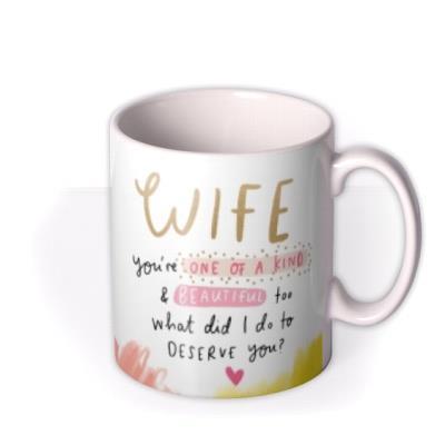 The Happy News Photo Upload Wife You're One Of A Kind Mug