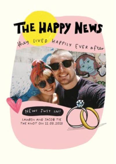 Happy News Photo Upload Engagement Card