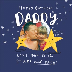 Happy Birthday Daddy Two Stars Card