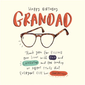 Happy Birthday Grandad Specs Card