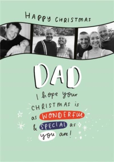 Emily Coxhead's The Happy News Happy Christmas Dad Photo Upload Card