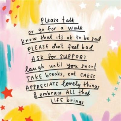 Embrace all that life BringsThinking of you Card