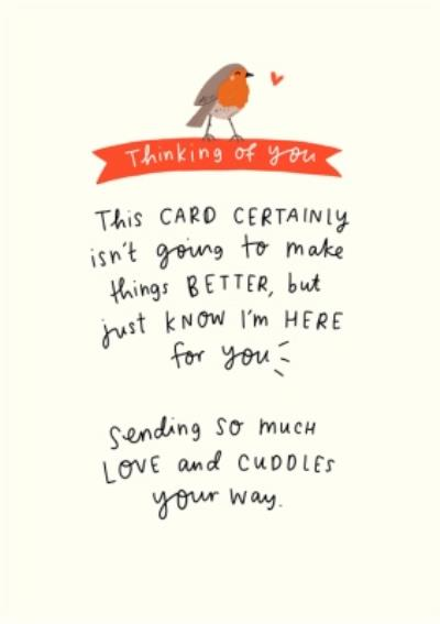The Happy News Thinking Of You At Christmas Robin Card