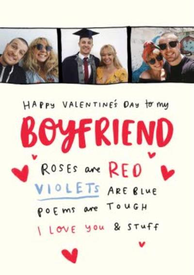 Photo Upload Valentine's Day Card for Boyfriend I love you and Stuff