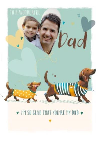 Cute Sausage Dogs To A Wonderful Dad Father's Day Photo Card