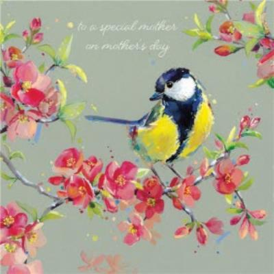 Bird and Floral Traditional Mother's Day Card for Mother