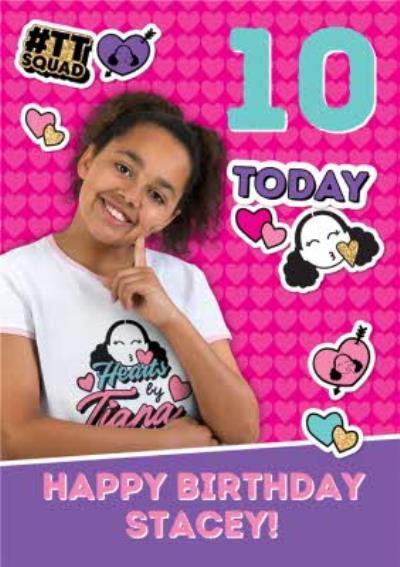 Hearts By Tiana 10th Birthday Card