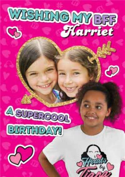 Hearts By Tiana Best Friend Photo Upload Birthday Card