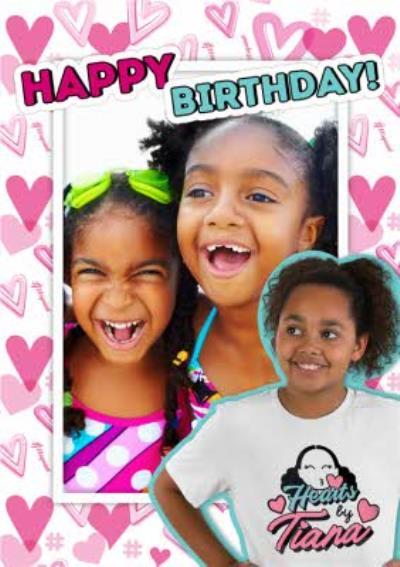 Hearts By Tiana Photo Upload Birthday Card