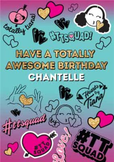 Hearts By Tiana Stickers Birthday Card