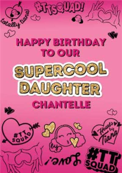 Hearts By Tiana Super Cool Daughter Birthday Card