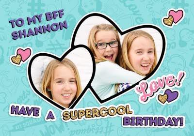 Hearts By Tiana BFF Photo Upload Birthday Card