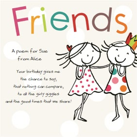 Friends Good Time Share Personalised Happy Birthday Card