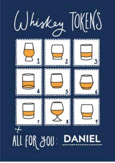 Whiskey Tokens Happy Father's Day Card