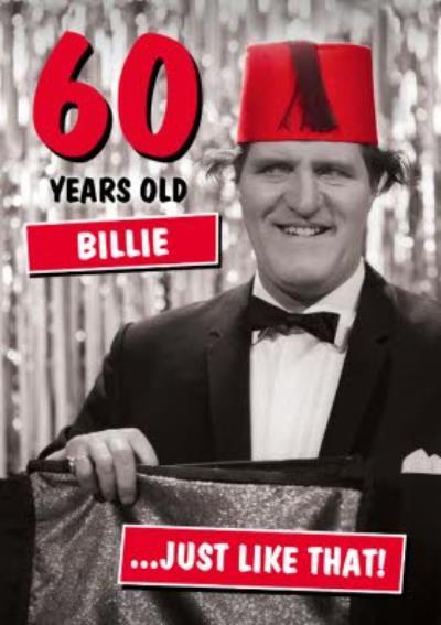 Funny Danilo Tommy Cooper 60th Birthday Card
