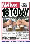 Newspaper Headline 18 Today Personalised Happy 18th Birthday Card