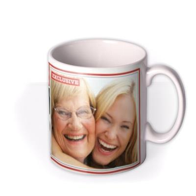 The News Best Mum Ever Personalised Photo Upload Mug