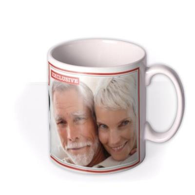 The News Best Dad Ever Personalised Photo Upload Mug