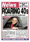 Newspaper Headline Roaring 40S Personalised Happy 40th Birthday Card