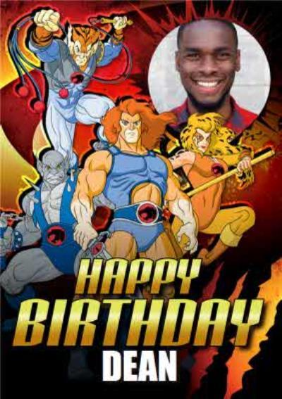 Thundercats Characters Photo Upload Birthday Card