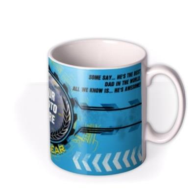 Top Gear Most Awesome Dad Photo Upload Mug