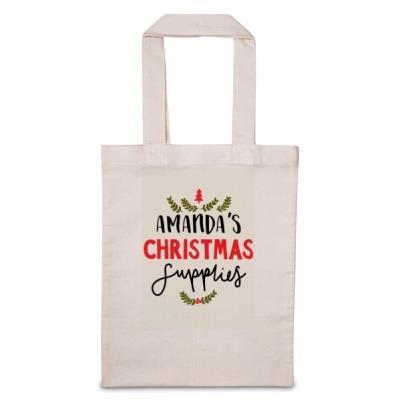 'Personalise Me' Christmas Supplies Tote Bag