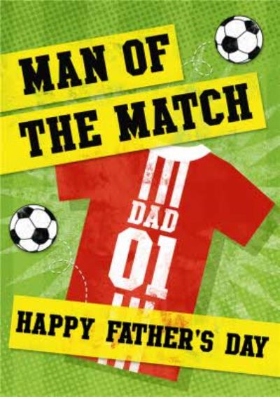 Man Of The Match Happy Father's Day Football Card
