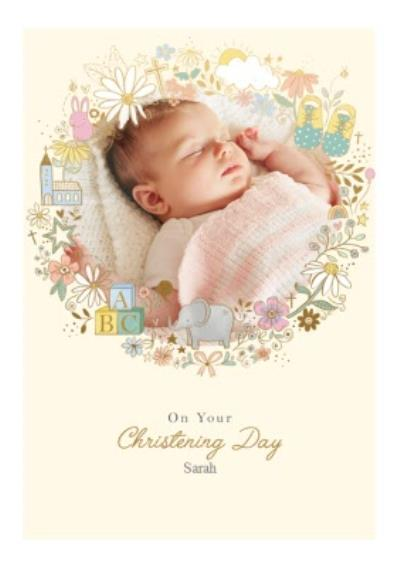 Christening Day Photo Upload Card