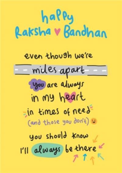 Even Though We Are Miles Apart Raksha Bandhan Card