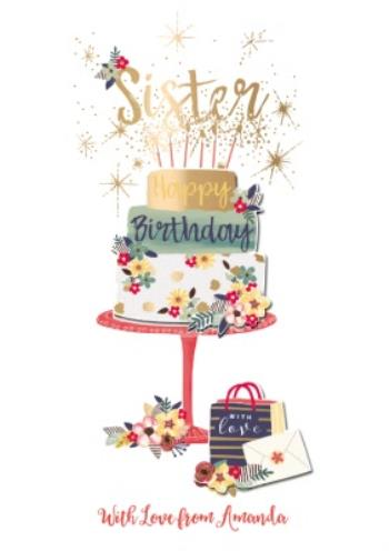 Enjoyable Birthday Card Sister Birthday Cake Moonpig Funny Birthday Cards Online Fluifree Goldxyz