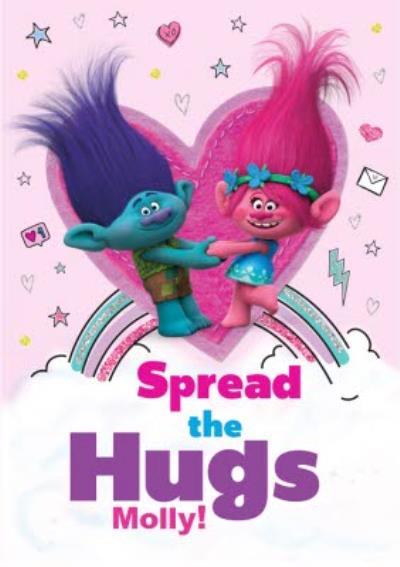 Trolls Spread The Hugs Personalised Card