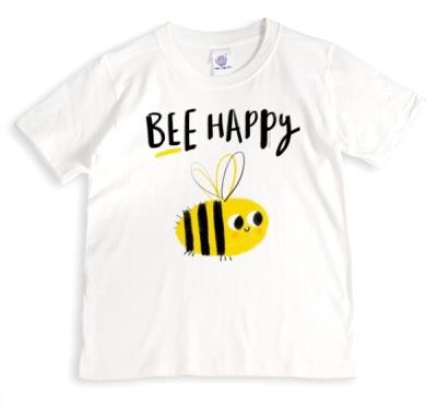 Cute Bee Illustration T-Shirt