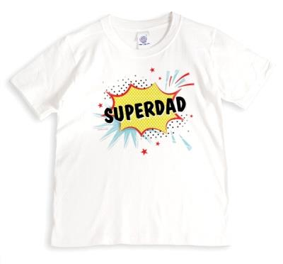 Cool Typographic Personalised Superdad Comic T-Shirt