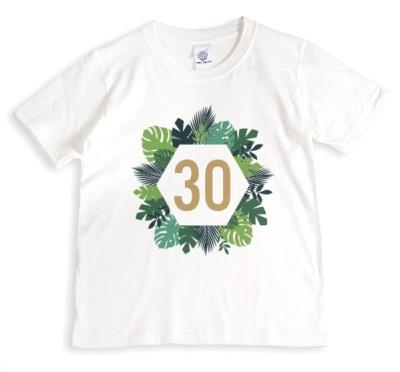 Typographic Ilustration Floral Age Wreath Personalised T-Shirt