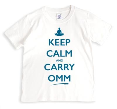 Typographic Keep Calm And Carry Omm T-Shirt