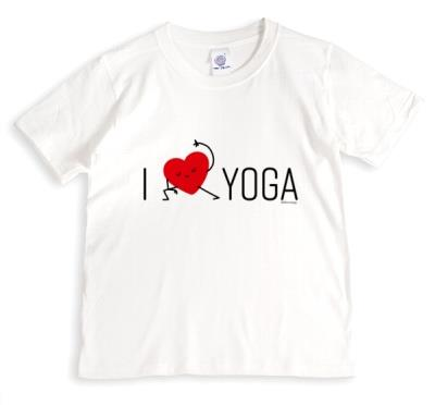Typographic I Heart Yoga T-Shirt