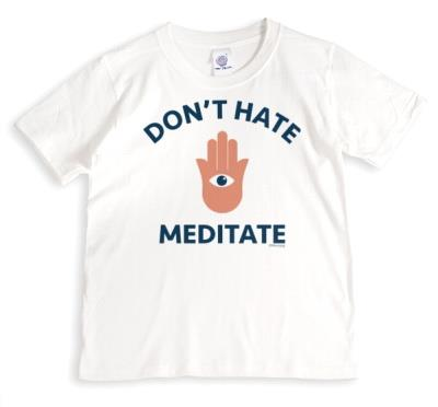 Meditate Don't Hate Illustrated T Shirt