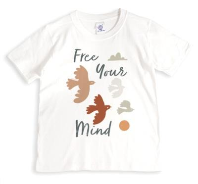 Free Your Mind Mindful Birds Non Personalised T Shirt