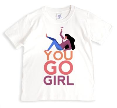 You Go Girl Typographic Female Empowerment T-shirt
