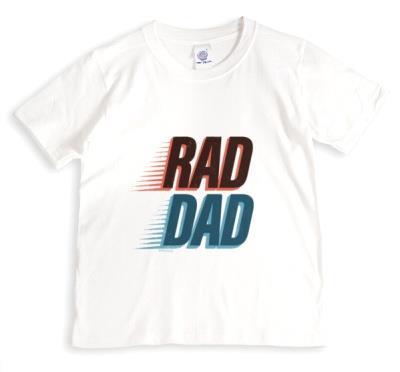 Rad Dad Typographic T-shirt