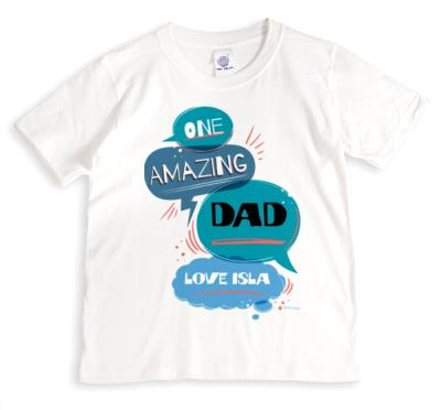 Speech Bubbles One Amazing Dad Typographic T-shirt