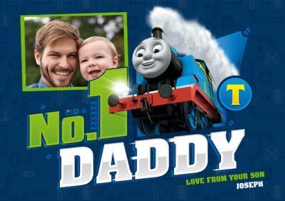 Thomas The Tank Engine No. 1 Daddy Photo Card