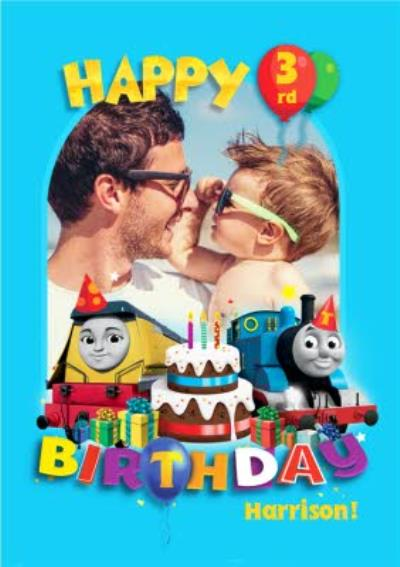 Thomas And Friends 3rd Birthday Photo Upload Card