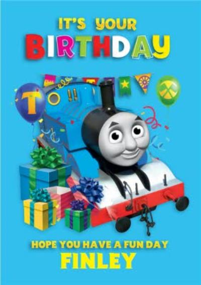 Thomas And Friends Fun Birthday Card