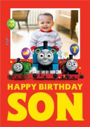 Thomas And Friends Son Photo Upload Birthday Card Moonpig