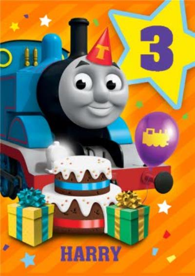 Thomas And Friends Cake and Presents Birthday Card