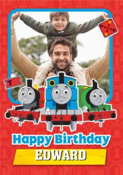 Thomas And Friends Photo Upload Birthday Card