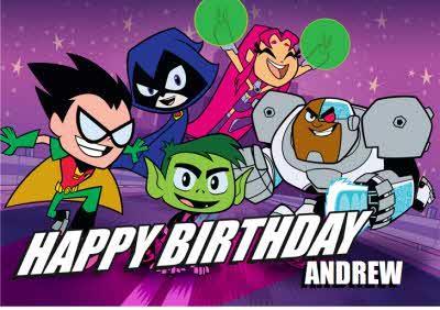 Teen Titans Go Birthday Card