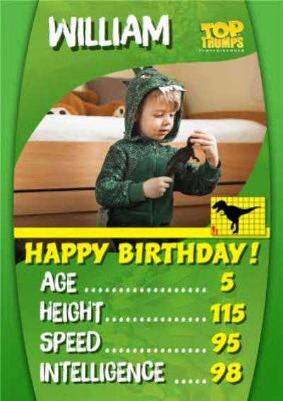 Top Trumps Dinosaur Photo Upload Birthday Card